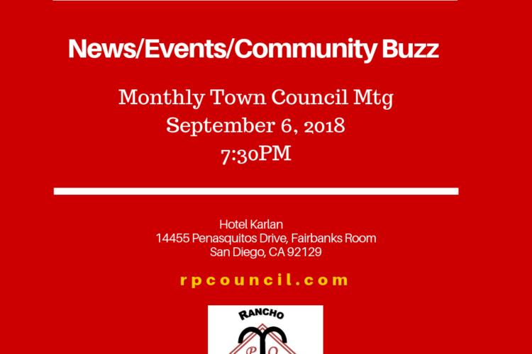 September 6, 2018, 7:30p Town Council Mtg